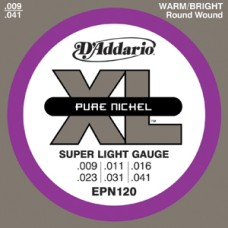 D'Addario XL Pure Nickel Super Light Gauge Guitar Strings