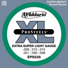 D'Addario XL ProSteels Extra-Super Light Gauge Guitar Strings