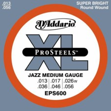 D'Addario XL ProSteels Jazz Medium Gauge Guitar Strings
